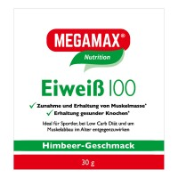 MEGAMAX (МЕГАМАКС) Nutrition Eiweiss 100 Himbeer-Geschmack 30 г
