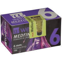 Wellion (Веллион) Medfine Plus Pennadeln 6 mm 100 шт