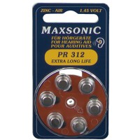 Maxsonic (Макссоник) PR 312 Batterien fur Horgerate 6 шт