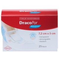 DracoPor (Дракопор) Waterproof Wundverband steril 5x7,2cm 25 шт