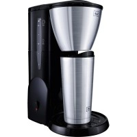Кофеварка Coffee maker Melitta Single 5 Therm mit to go Stainless steel (brushed), Black Cup volume=5 Thermal jug