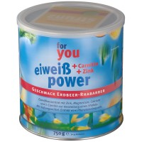 for (фор) you eiweiss power Erdbeer-Rhabarber 750 г