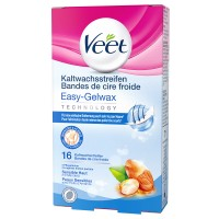Veet (Вит) Easy Grip Kaltwachsstreifen fur Bikinizone & Achselhohlen sensitive 16 шт