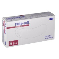 Peha-soft (Пеха-софт) nitrile white puderfrei unsteril Untersuchungshandschuhe Gr. S 6 - 7 100 шт