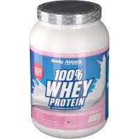 Body (Боди) Attack 100 % Whey Protein Strawberry White Chocolate 900 г