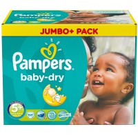Pampers (Памперс) baby-dry Gr.5+ Junior Plus 13-27kg Jumbo Plus Pack 68 шт