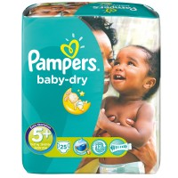 Pampers (Памперс) baby-dry Gr.5+ Junior Plus 13-27 kg Sparpack 25 шт