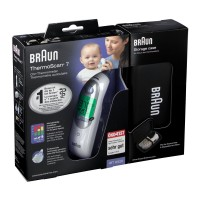 Braun (Браун) ThermoScan 7 Ohrthermometer mit Etui 1 шт