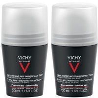 Vichy (Виши) Homme Deo Roll On Anti Transpirant 72h 2x50 мл