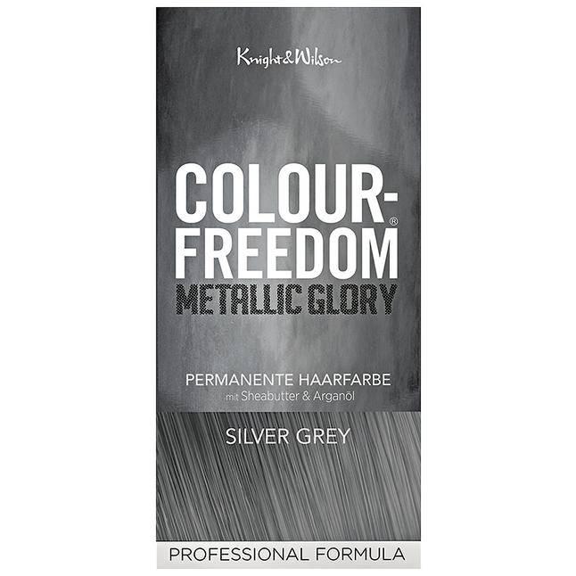 Metallic grey haarfarbe