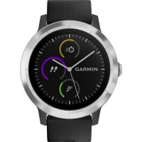 GPS heat rate monitor watch with built-in sensor Garmin vivoactive 3 black M/L