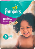 Pampers Active Fit Подгузники Размер 6 Экстра large 15+ kg, 21 шт