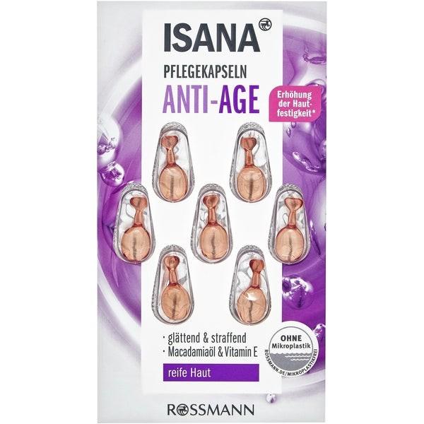 Isana Anti-Age Pflege Kapseln Антивозрастные Капсулы для ухода с витаминами  7 шт.