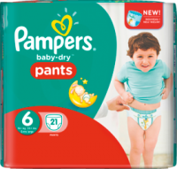 Pampers Подгузники-трусики Baby-Dry Pants Размер 6 Экстра large 16+kg, 21 шт