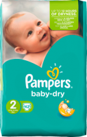 Pampers Baby-Dry Подгузники Размер 2 Мини 3-6 kg, 42 шт