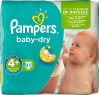 Pampers Baby-Dry Подгузники Размер 4+ Maxi plus 9-20 kg, 27 шт