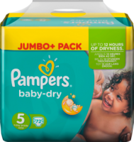 Pampers Baby-Dry Подгузники Размер 5 Юниор 11-25 kg Jumbo+ Pack, 72 шт