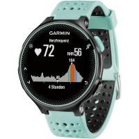 GPS heat rate monitor watch with built-in sensor Garmin Forerunner 235 WHR Frost Blau
