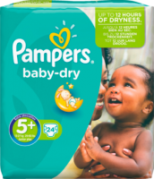 Pampers Baby-Dry Подгузники Размер 5+ Юниор plus 13-27 kg, 24 шт