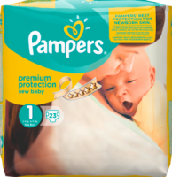 Pampers New Baby Подгузники Размер 1 New Born 2-5 kg, 23 шт