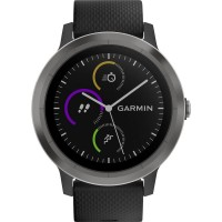 GPS heat rate monitor watch with built-in sensor Garmin vivoactive 3 black M/L Gunmetal