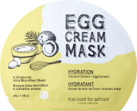 too cool for school EGG Cream Mask Hydration TuchMaske Маска для лица, 1 шт.