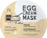 too cool for school EGG Cream Mask Firming TuchMaske Маска для лица, 1 шт.