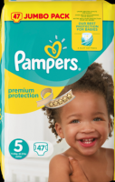 Pampers Premium Protection Подгузники Размер 5 Юниор 11-23 kg Jumbo Pack, 47 шт