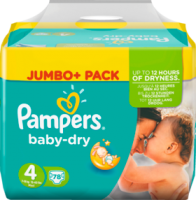 Pampers Baby-Dry Подгузники Размер 4 Maxi 7-18kg Jumbo+ Pack, 78 шт