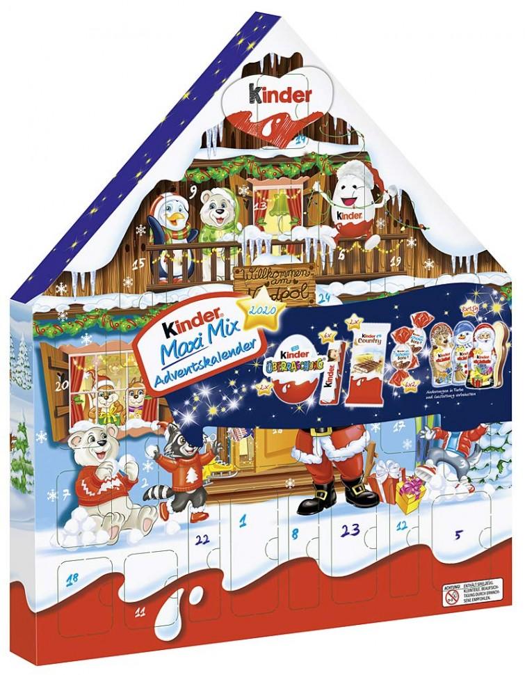 Купить Kinder Maxi Mix Adventskalender Рождественский ...